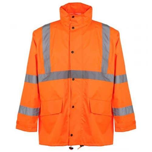 Safety Orange Rain Jacket