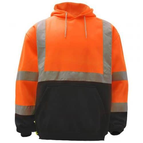 Safety ORange Reflective Hooded Sweatshirt
