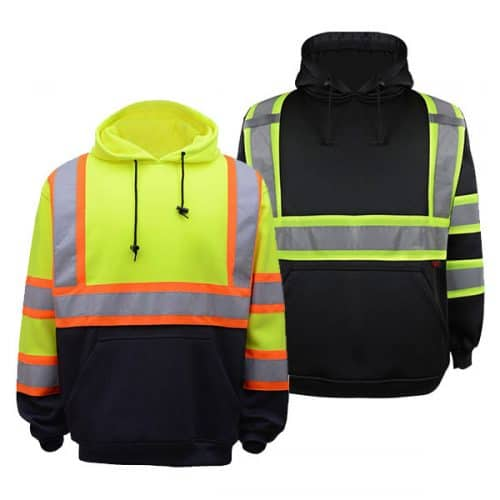 Two Tone Safety Hooded Sweatshirts