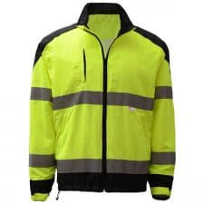 GSS Premium Windbreaker Jacket With Black Bottom In Safety Green