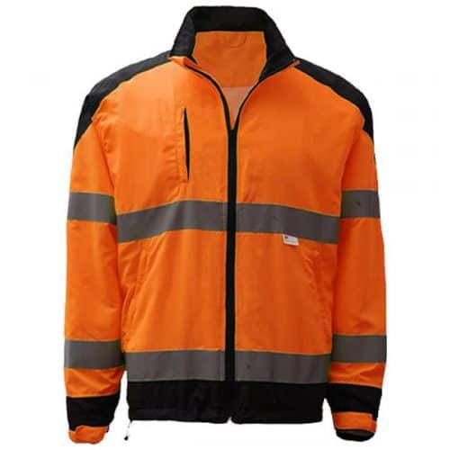 Safety Orange Windbreaker