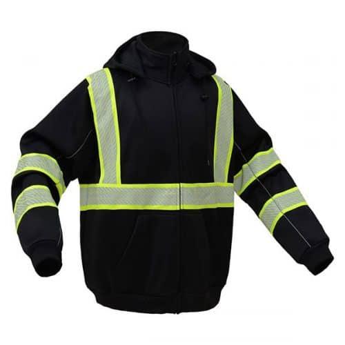 Black Non-ANSI Safety Sweatshirt