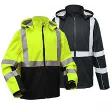 GSS Class 3 Softshell Safety Sweatshirt With Black Bottom