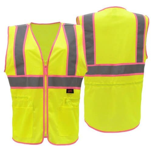 GSS Class 2 Ladies Safety Vest with Pink Trim