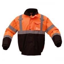 Safety Bomber Jacket In Safety Orange