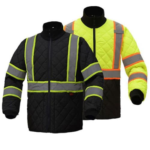 Two Tone Quilted Safety Jacket