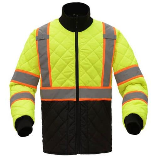 Quilted Safety Green Jacket
