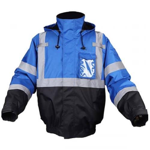 Blue Safety Bomber Jacket