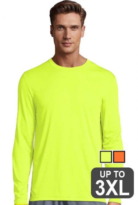 Hanes Long Sleeve Performance Safety Shirt