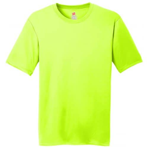 Hanes Safety Green Dry Fit Shirts