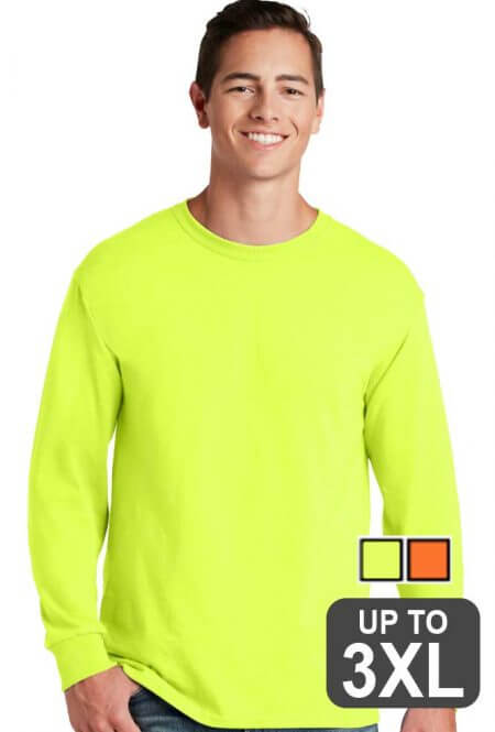 Jerzees Long Sleeve Safety T-Shirt