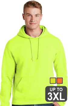 Jerzees Super Sweats Safety Hooded Sweatshirt