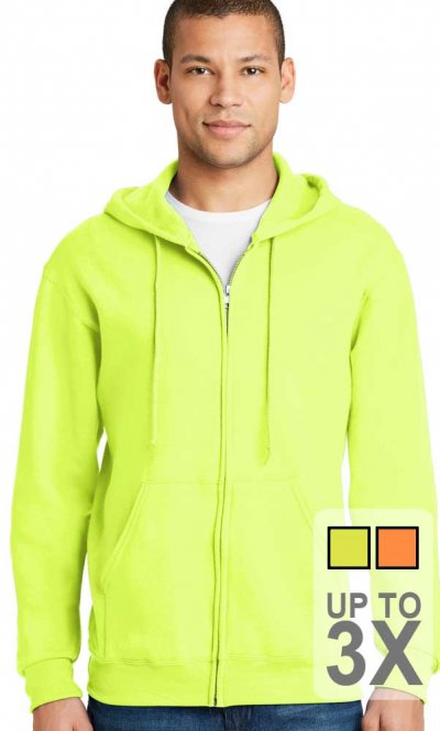 Jerzees Full Zip Safety Sweatshirt