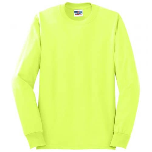Jerzees Safety Green Moisture Wicking Safety Shirt