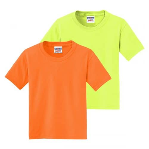 Jerzees Youth Safety Shirts