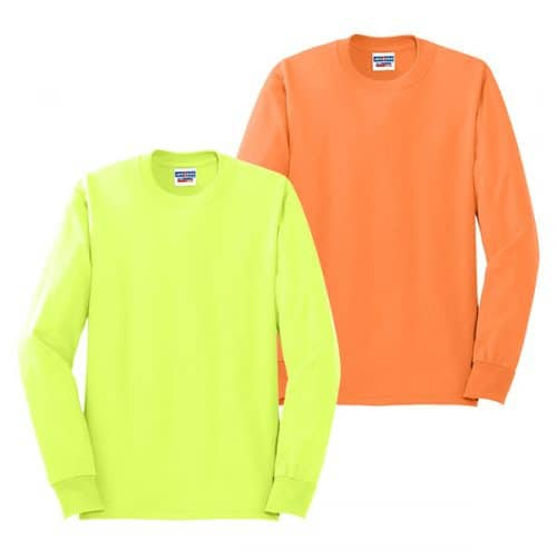 Jerzees Long Sleeve Safety Shirts