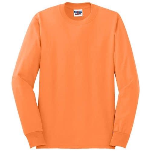 Jerzees Long Sleeve Safety Orange Shirt