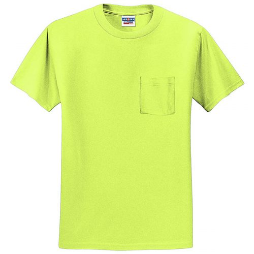 Jerzees Safety Green with Pocket