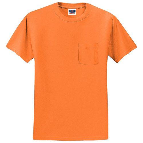 Safety Orange Pocket Shirt from Jerzees