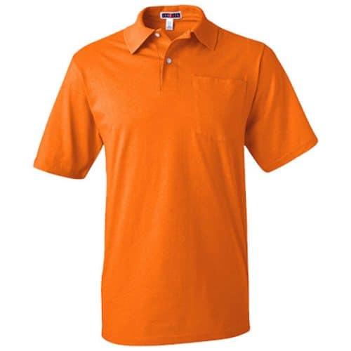 Safety Orange Polo with Pocket