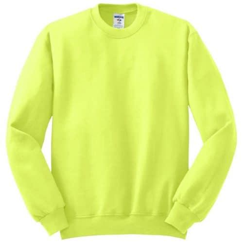 Jerzees Safety Green Crewneck Sweatshirt