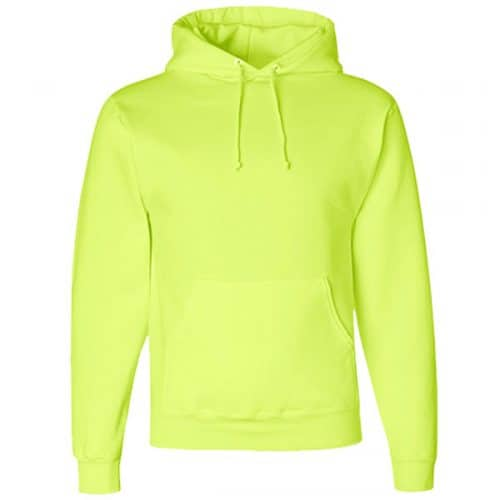 Jerzees Safety Green Hooded Sweatshirt