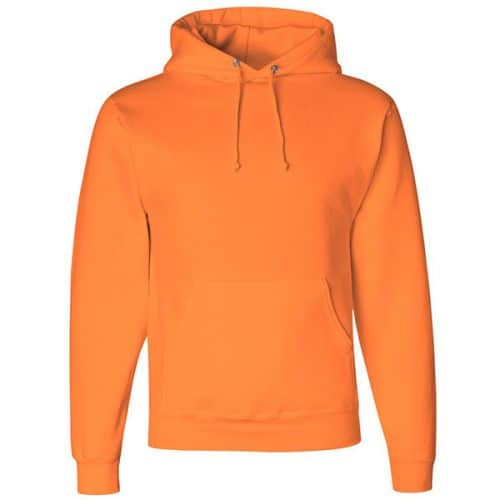 Jerzees Safety Orange Hooded Sweatshirt