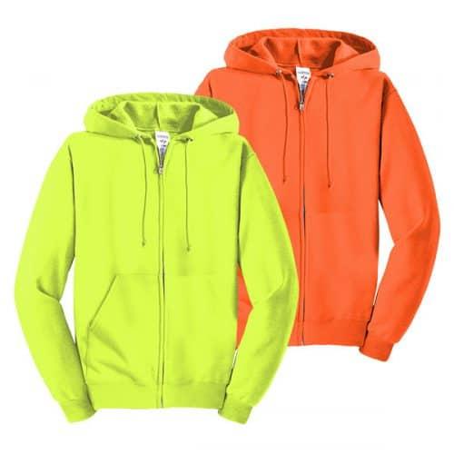 Jerzees Full Zip Safety Sweatshirts