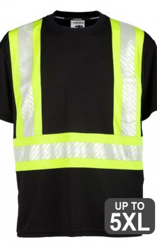 Kishigo Non-ANSI Black Enhanced Visibility Pocket T-Shirt
