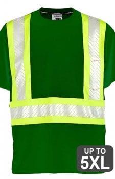 Kishigo Non-ANSI Green Enhanced Visibility Pocket T-Shirt