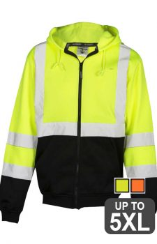 ML Kishigo Hi-Viz Hooded Full Zip Sweatshirt