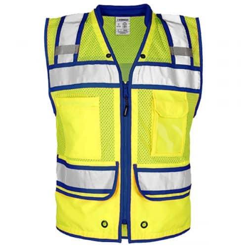 Kishigo Safety Vest with Blue Trim