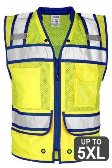 Blue Trimmed Safety vest