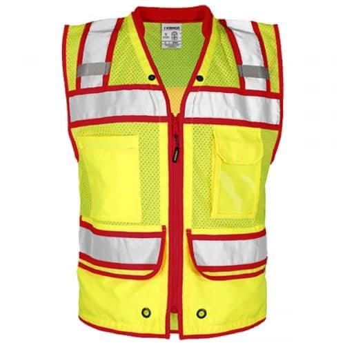 GSS Surveyors Vest with Red Trim