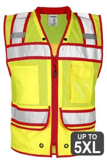 Red Trimmed Safety Vest