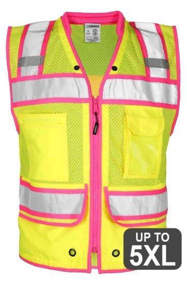 Pink Trimmed Safety Vest