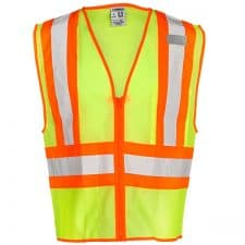 Safety Green Safety Vest With Contrast Trim