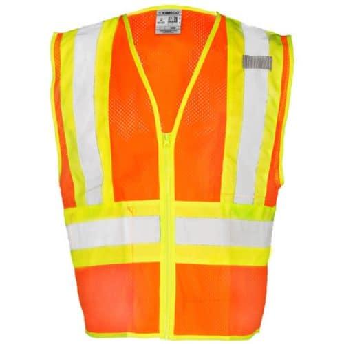 Kishigo Orange Safety Vest with Contrast Trim