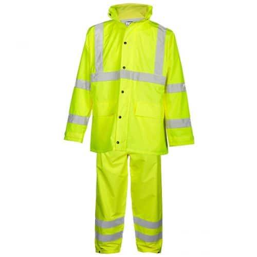Kishigo Safety Green Rainsuit