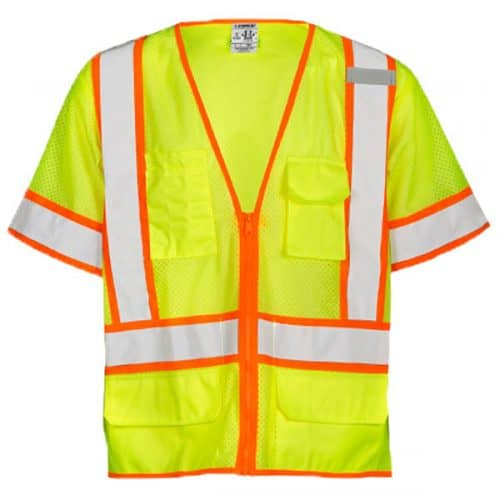Kishigo Ultra Cool Safety Green Surveyors Vest