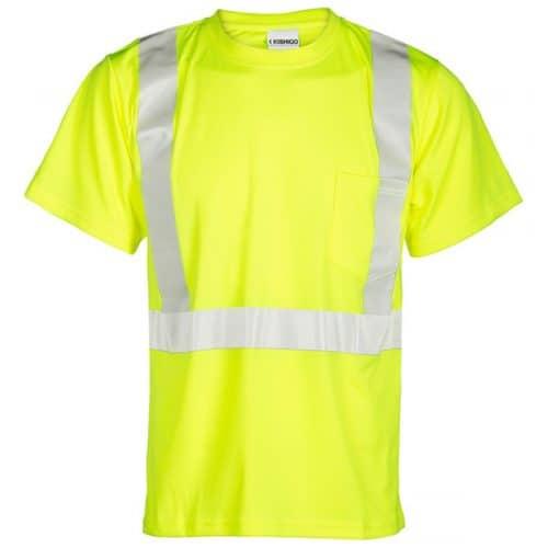 Kishigo Class 2 Reflective Safety Green Safety Shirt