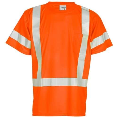 Kishigo Safety Orange Class 3 Reflective Shirt