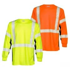 Kishigo Premium Black Series Long Sleeve Safety T-Shirt