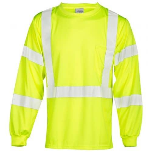 Safety Green Long Sleeve Reflective Shirt