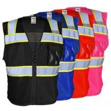 Kishigo Non-ANSI Enhanced Visibility 3 Pocket Mesh Vest