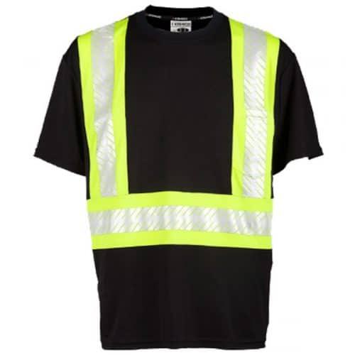 Kishigo Black Non ANSI Reflective Stripe Safety Shirt