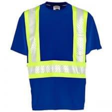 Kishigo Non-ANSI Blue Enhanced Visibility Pocket T-Shirt