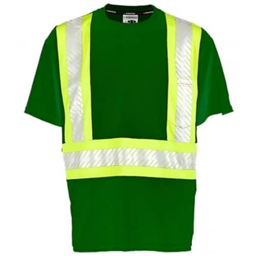 Kishigo Green Non_ANSI Safety Shirt with Reflective Striping