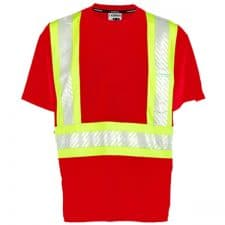 Kishigo Non-ANSI Red Enhanced Visibility Pocket T-Shirt