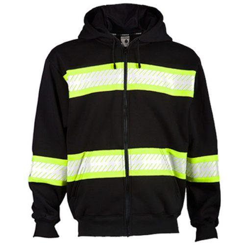 Kishigo Black Hooded Sweatshirt